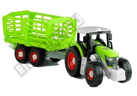 Rozkręcany Traktor z Otwierana Przyczepą 43 cm