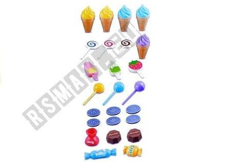 Słodki Sklep 30 Elementów Wózeczek Gra Świeci