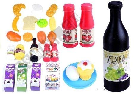 Zestaw Kuchenny Mikser Garnki Jedzenie + Akcesoria