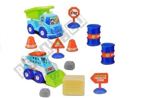 Zestaw Pojazdów do Rozkręcania + Wkrętarka Klucze