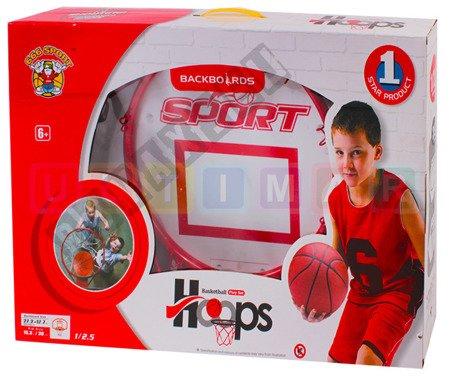 Zestaw do gry w koszykówkę: tablica + piłka